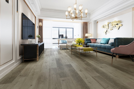 Luxury Click Vinyl Rigid Core Flooring Swan Grey 4.2mm By 178mm By 1220mm VL021 6