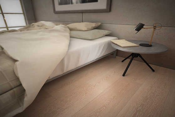 Prime Engineered Flooring Oak Sunny White Brushed UV Oiled 14/3mm By 190mm By 1900mm FL1236 1