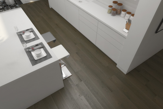 Select Engineered Flooring Oak Click Light Grey Brushed UV Lacquered 14/3mm By 189mm By 1860mm FL2144 1