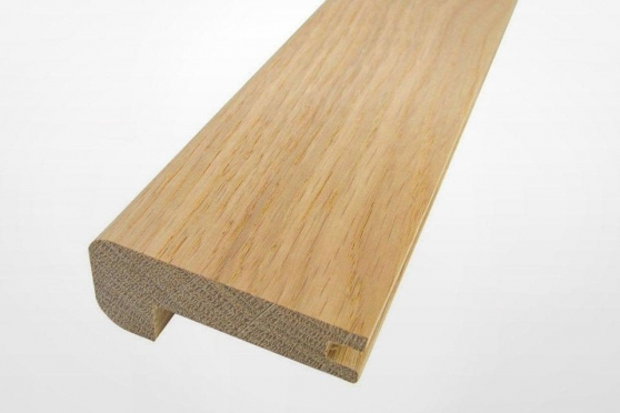 Solid Oak Stair Nosing Grooved 60mm by 25mm by 1000-1250mm