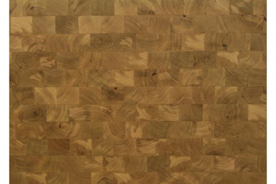 End Grain Oak Worktop 40mm By 1000mm By 1000mm