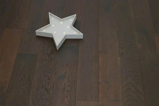 Natural Engineered Flooring Oak Black Tea Brushed UV Oiled 15/4mm By 190mm By 1900mm FL2518 1