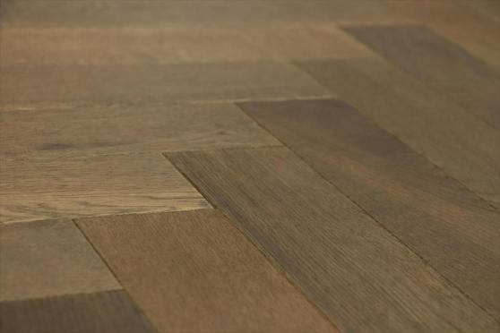 Natural Engineered Flooring Oak Herringbone Smoked Cinnamon Oiled 15/4mm By 90mm By 600mm FL2918 1
