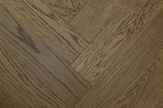 Prime Engineered Flooring Oak Herringbone Coffee Brushed UV Oiled 14/3mm By 98mm By 588mm FL3069 7