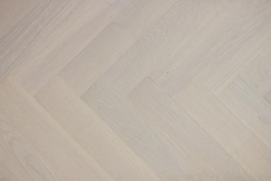 Prime Engineered Flooring Oak Herringbone Double White Brushed UV Lacquered 14/3mm By 98mm By 588mm FL3153 6