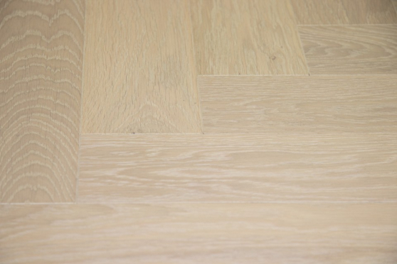 Prime Engineered Flooring Oak Herringbone Sunny White Brushed UV Oiled 14/3mm By 98mm By 588mm FL3318 6