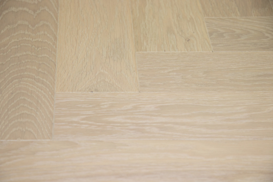 Prime Engineered Flooring Oak Herringbone Sunny White Brushed UV Oiled 14/3mm By 98mm By 790mm FL2827 6
