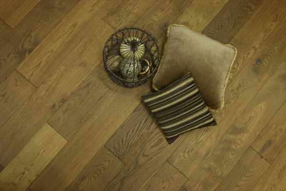 Rustic Engineered Flooring Oak Smoked Brushed UV Oiled 14/3mm By 190mm By 1900mm FL3488 2