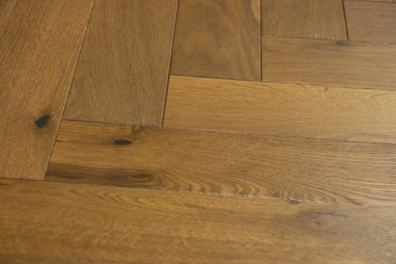 Natural Engineered Flooring Oak Herringbone Light Smoked Brushed UV Oiled 15/4mm By 90mm By 600mm FL3839 1