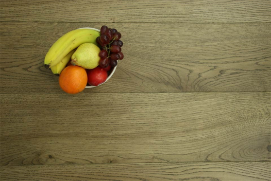 Natural Engineered Flooring Oak Cognac Brushed UV Lacquered 15/4mm By 240mm By 2200mm FL3495 1