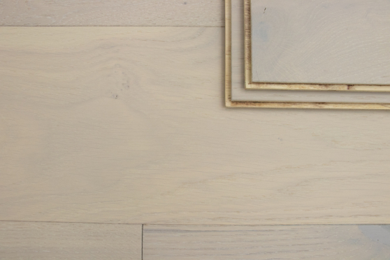 Prime Engineered Flooring Oak Double White Brushed UV Matt Lacquered Eco 14/3mm By 178mm By 1000-2400mm GP253 1