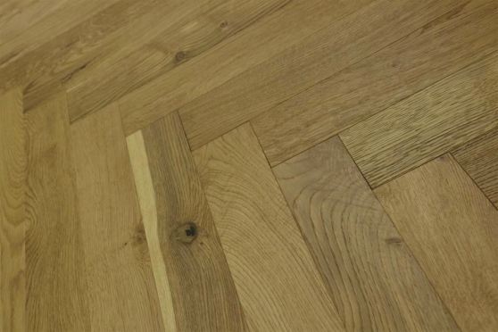 Natural Engineered Flooring Oak Herringbone Smoked Brushed UV Oiled 15/4mm By 90mm By 600mm HB054 1