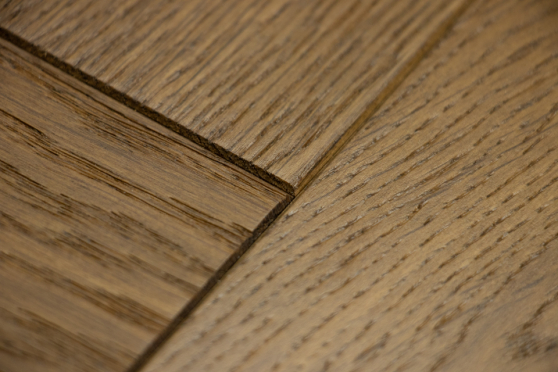 Natural Engineered Flooring Oak Herringbone Dark Smoked Brushed UV Oiled 14/3mm By 90mm By 600mm HB062 10