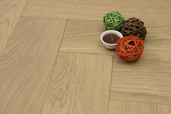 Prime Engineered Flooring Oak Herringbone Raw Blanco UV Oiled 15/4mm By 120mm By 600mm HB073 0
