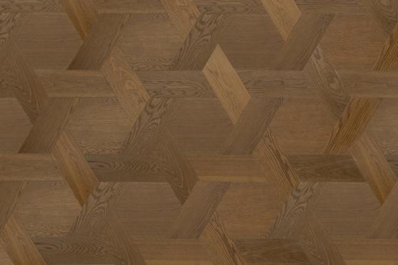 Prime Engineered Flooring Versailles Design Oak Smoked Brushed Semi Matt Lacquered 15.2/3mm VS007 0