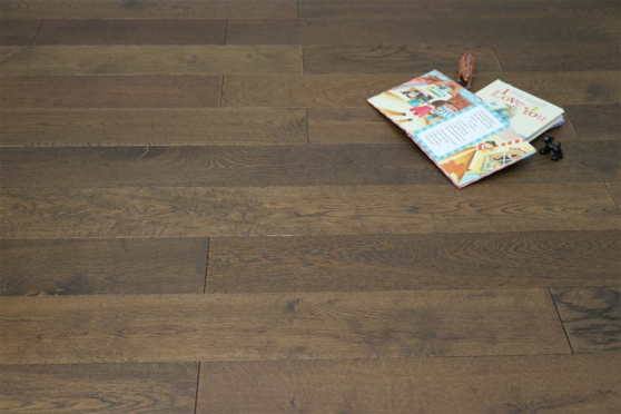 Natural Engineered Oak Coffee Brushed UV Oiled 14/3mm By 190mm By 400-1500mm FL1328 1
