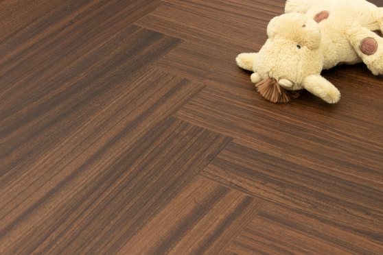 Prime Engineered Flooring African Walnut Herringbone Brushed Matt UV Lacquered 14/3mm By 97mm By 790mm FL3441 6