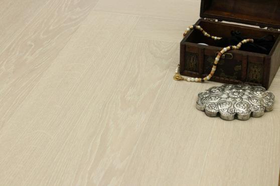 Prime Engineered Flooring Oak Herringbone Polar White Brushed UV Matt Lacquered 14/3mm By 98mm By 588mm FL3936 4