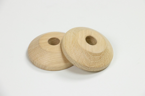 Pair of Oak Unfinished Pipe Covers 10mm