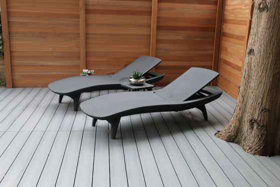 Supremo WPC Composite Decking Boards Silver Grey 22mm By 142mm By 2900mm DC009-2900 1