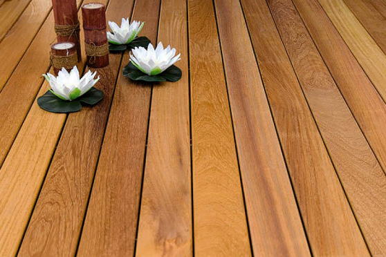 Iroko Hardwood Decking Boards Using Hidden Fixing 21mm By 95mm By 2025-4550mm DK044-10-30 0