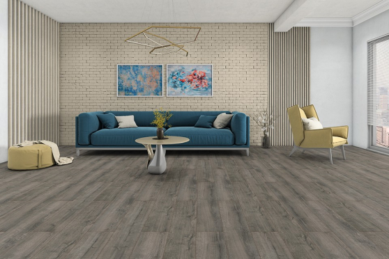 Prag Dark Grey Laminate Flooring 8mm By 197mm By 1205mm  LM080 1
