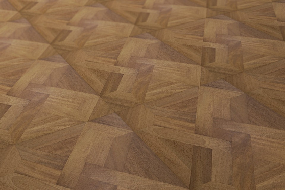 Prime Engineered Flooring Versailles Iroko M104 UV Lacquered 15/3.3mm By 600mm By 600mm VS006 1