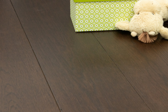 Natural Engineered Flooring Oak Black Tea Brushed UV Oiled 15/4mm By 190mm By 1900mm FL2518 1