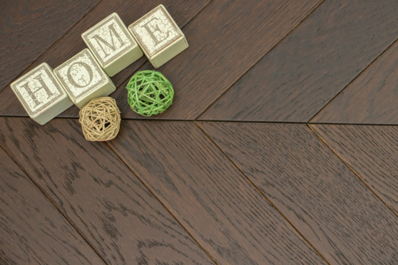 Natural Engineered Flooring Oak Chevron Black Tea Light Brushed UV Oiled 15/4mm By 90mm By 600mm FL3911 5