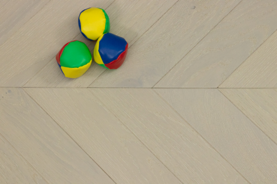Natural Engineered Flooring Oak Chevron Double White Light Brushed UV Lacquered 15/4mm By 90mm By 600mm FL3640 6