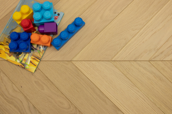 Natural Engineered Flooring Oak Chevron Non Visible Light Brushed UV Lacquered 15/4mm By 90mm By 600mm FL3636 5