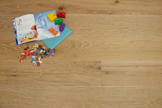 Natural Engineered Flooring Oak Click White Wash Smoked Brushed UV Lacquered 14/3mm By 190mm By 1900mm FL3893 4