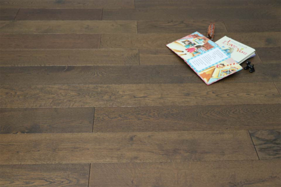 Natural Engineered Flooring Oak Coffee Brushed UV Oiled 14/3mm By 190mm By 1900mm FL686 1
