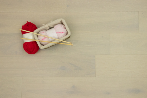 Natural Engineered Flooring Oak Double White Brushed UV Lacquered 14/3mm By 150mm By 400-1500mm FL2687 7