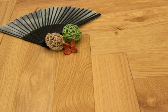 Natural Engineered Flooring Oak Herringbone Nature Brushed UV Matt Lacquered 13/4mm By 90mm By 600mm FL4042 0