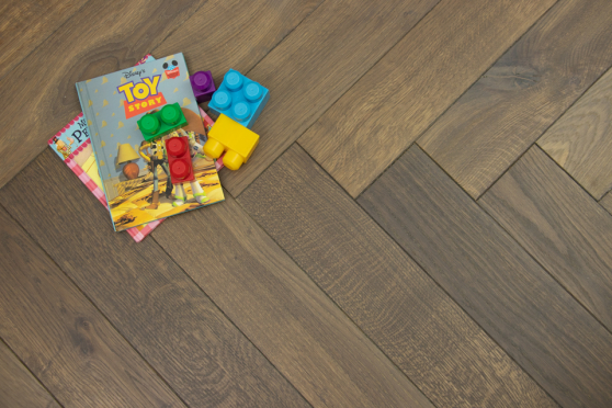 Natural Engineered Flooring Oak Herringbone Cemento Hardwax Oiled 16/4mm By 120mm By 580mm HB031 1