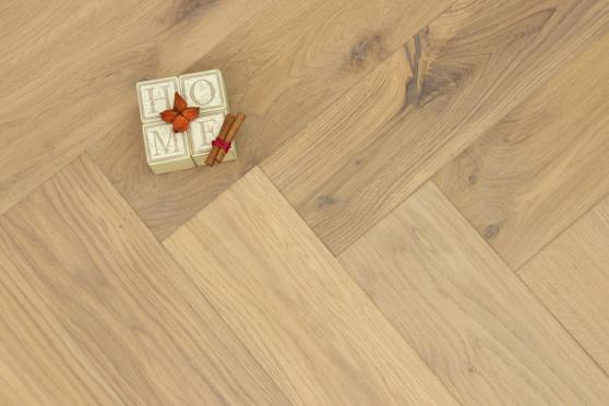 Natural Engineered Flooring Oak Herringbone No 13 UV Oiled 13/4mm By 140mm By 580mm HB067 5