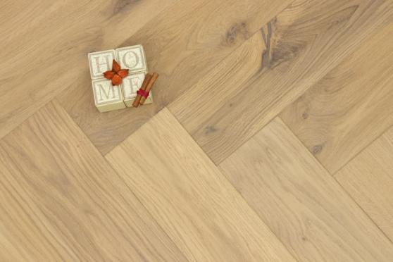 Natural Engineered Flooring Oak Bespoke Herringbone No 13 Brushed UV Oiled 16/4mm By 120mm By 580mm - 12.6m2 bundle  FL4188 0