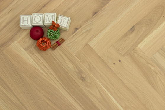 Natural Engineered Flooring Oak Herringbone Non Visible UV Oiled No Bevel 11/3.6mm By 70mm By 490mm HB044 11