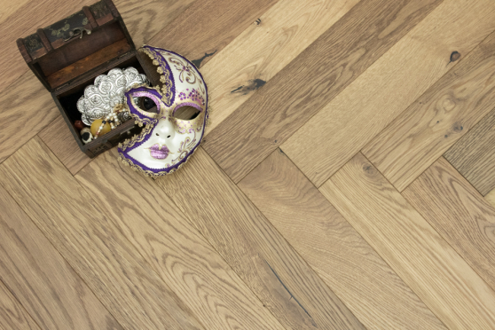 Natural Engineered Flooring Oak Herringbone Smoked Brushed UV Oiled 15/4mm By 90mm By 600mm FL3574 5
