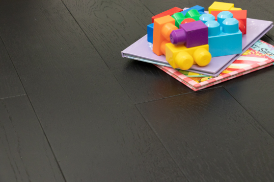 Natural Engineered Flooring Oak Jet Black Brushed UV Lacquered 20/5mm By 180mm By 1900mm FL2988 7