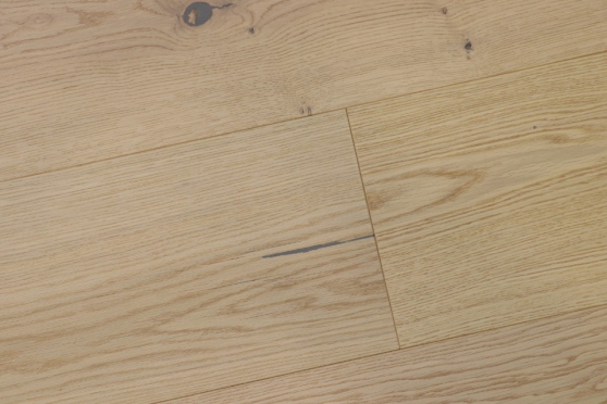 Natural Engineered Flooring Oak Light Sand Brushed UV Oiled 14/4mm By 250mm By 1570-2400mm GP262 1