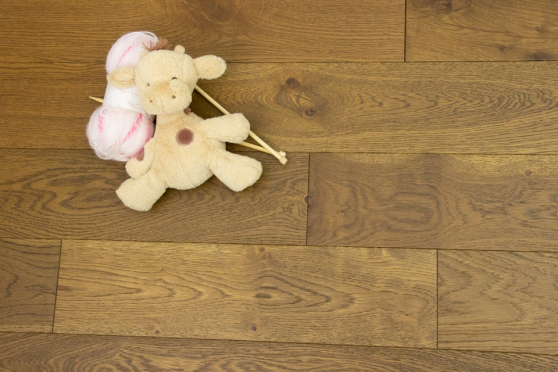 Natural Engineered Flooring Oak Smoked Brushed UV Oiled 15/4mm By 150mm By 400-1500mm  FL3923 4