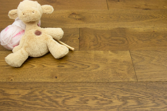 Natural Engineered Flooring Oak Smoked Brushed UV Oiled 15/4mm By 190mm By 400-1500mm FL3920 4