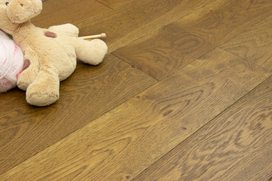 Natural Engineered Oak Smoked Brushed UV Oiled 14/3mm By 190mm By 400-1500mm FL1465 6