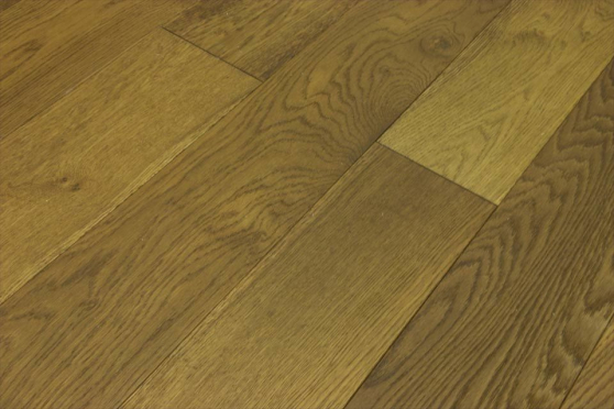 Natural Engineered Flooring Oak Smoked Stained Brushed UV Oiled 14/3mm By 150mm By 1900mm FL3076 1