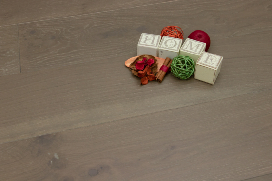 Natural Engineered Flooring Oak Summer Grey Brushed UV Oiled 14/3mm By 190mm By 1900mm FL2529 6