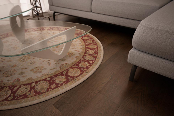 Natural Engineered Oak Coffee Brushed UV Oiled 15/4mm By 220mm By 2200mm FL1491 1