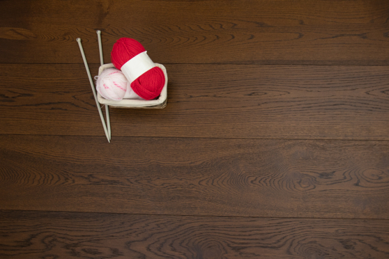 Natural Engineered Flooring Oak Coffee Brushed UV Oiled 15/4mm By 260mm By 1900mm FL3095 12