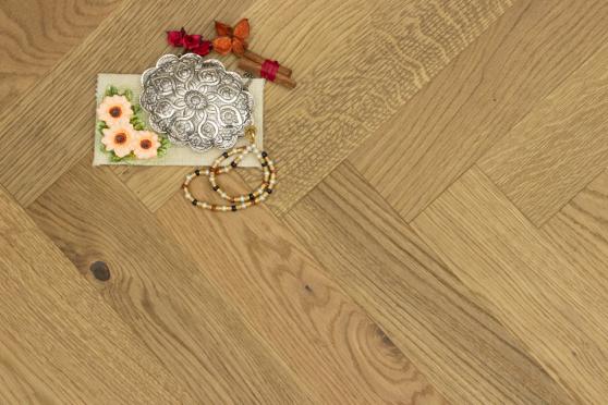 Natural Engineered Flooring Oak Herringbone Whiskey Smoked Brushed UV Matt Lacquered 13/4mm By 90mm By 600mm FL4041 5